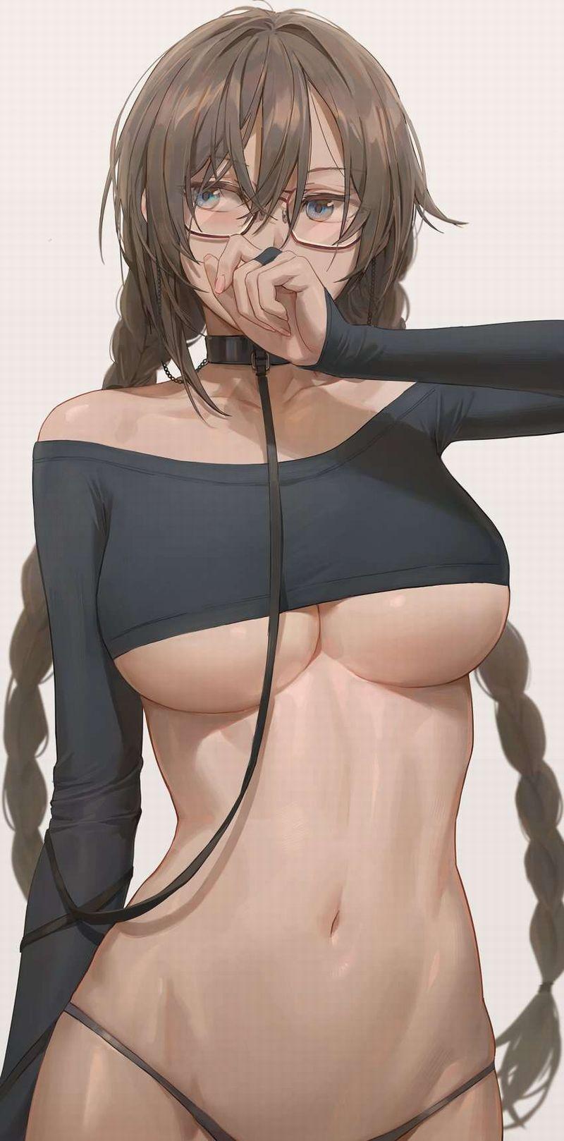 【屋上】胸の大きいいい女の二次エロ画像【メガネ】【31】