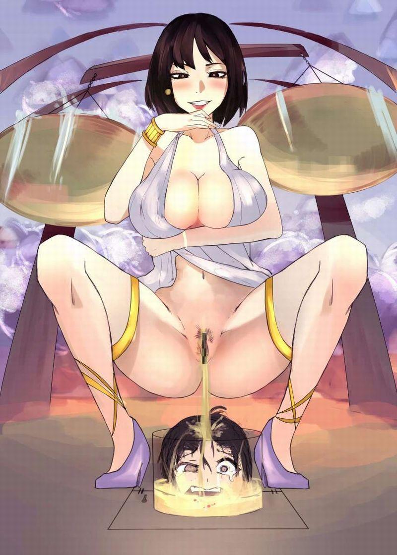 【欲尿】美少女のションベンを身体に浴びる二次エロ画像【32】
