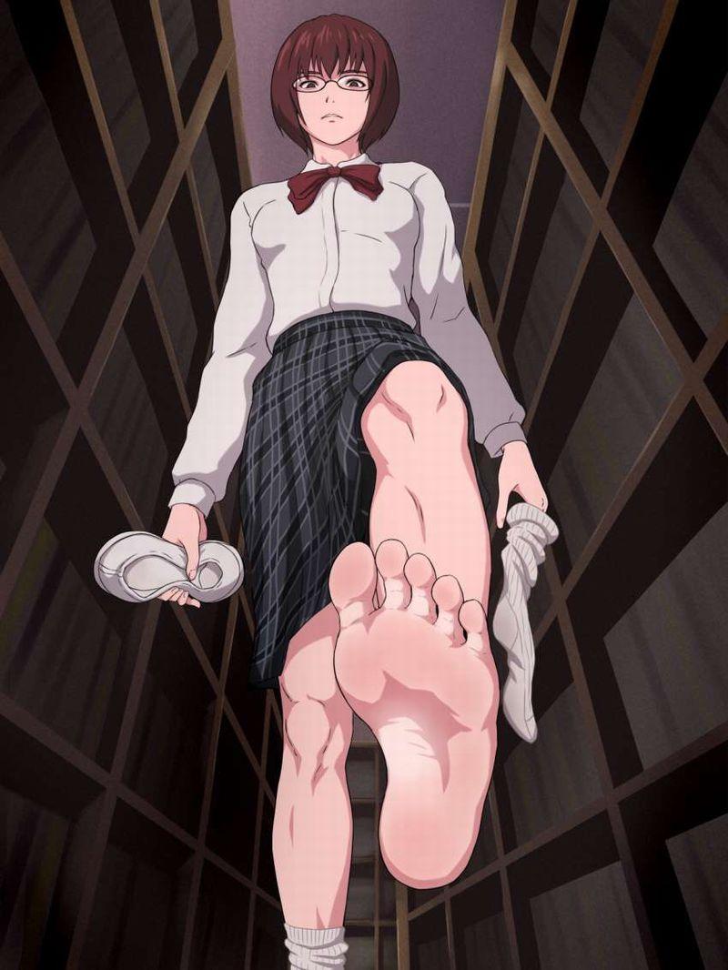 【くさい】脱ぎたて靴下と生足JKの二次エロ画像【だがそれが良い】【21】