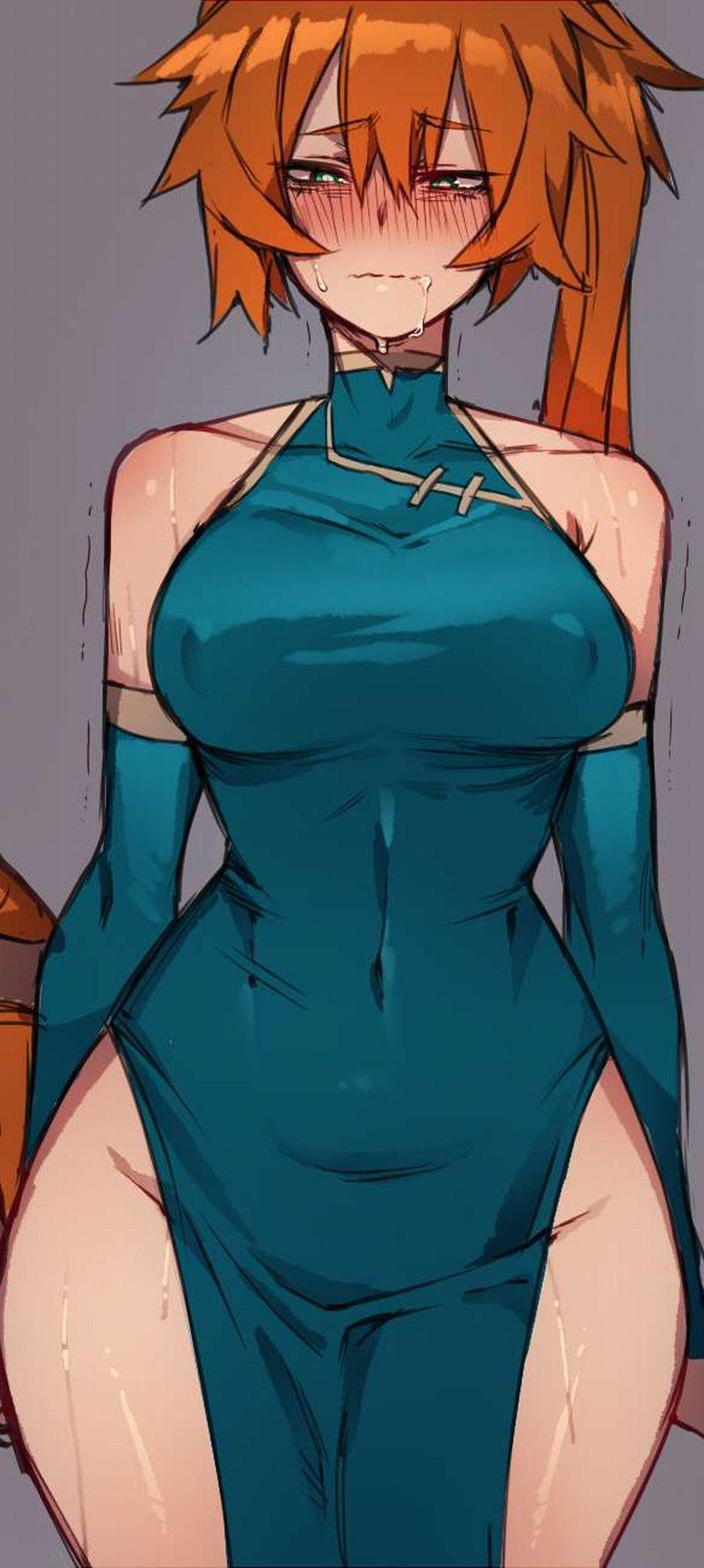 【異常なエロさ】ノーパンチャイナドレスの二次エロ画像【20】