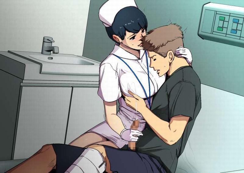 【医療従事者】ナースに手コキして貰ってる二次エロ画像【10】