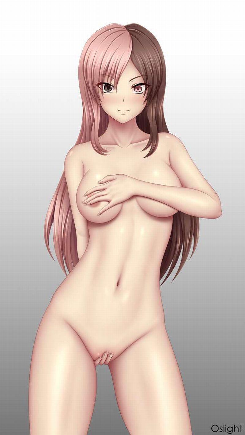 【服どうしたの?】手で必死に隠してる全裸女子の二次エロ画像【14】