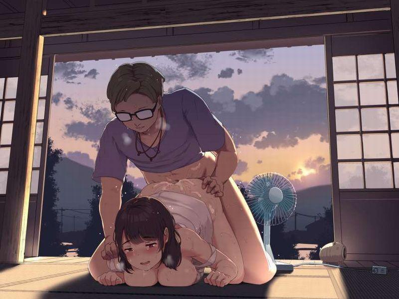 【なんか芸術的】夕焼けをバックにセックスしてる二次エロ画像【2】