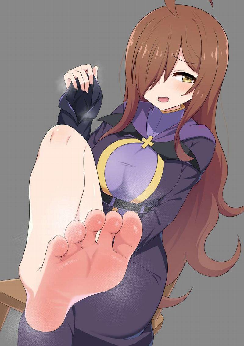 【くっせぇわ】足裏から湯気が出てる二次エロ画像【Ashi】【20】