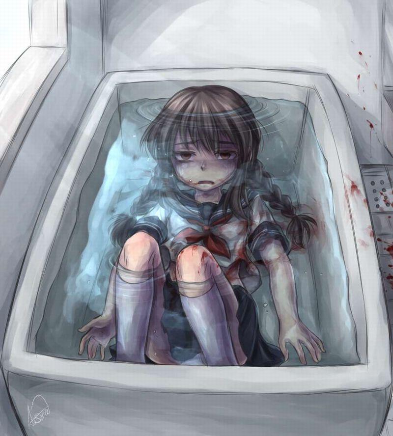 【この海に遺体】水と死んでる女の子の二次エログロ画像【7】
