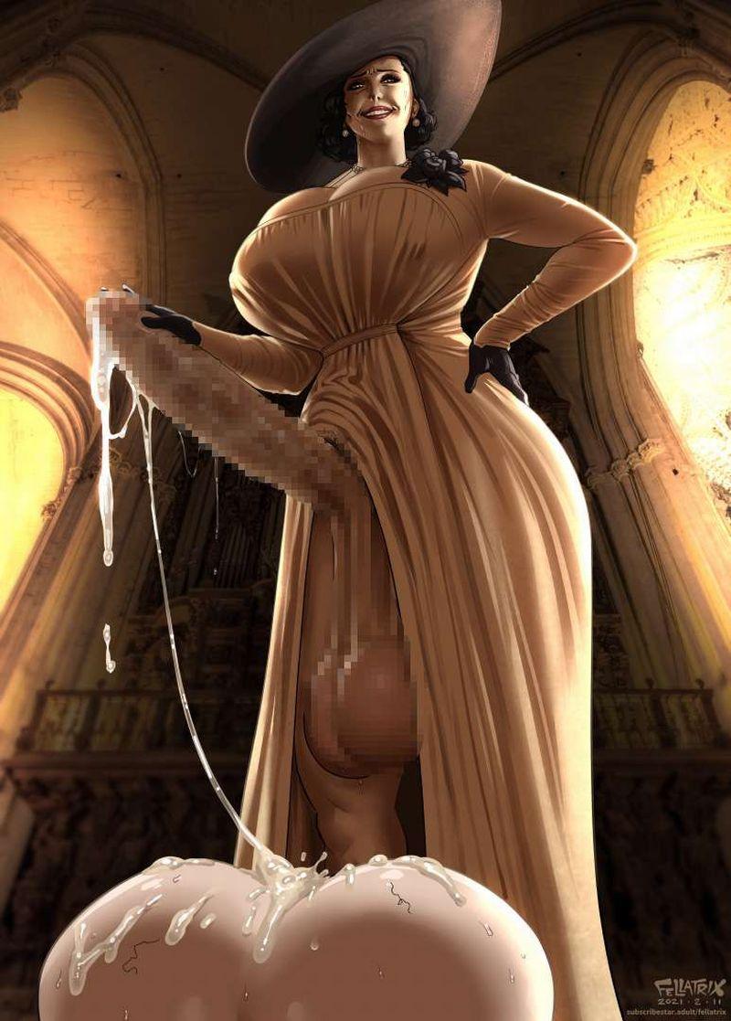 【バイオハザードヴィレッジ】オルチーナ・ドミトレスク(Alcina Dimitrescu)のエロ画像【7】