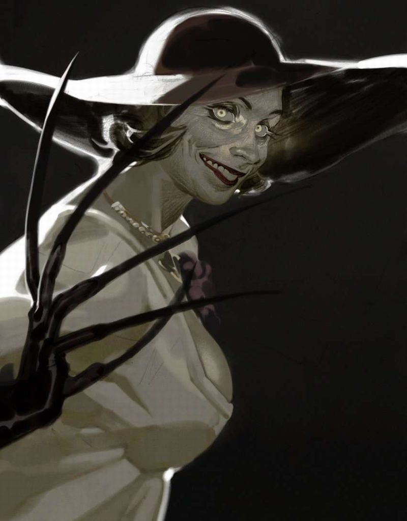 【バイオハザードヴィレッジ】オルチーナ・ドミトレスク(Alcina Dimitrescu)のエロ画像【49】