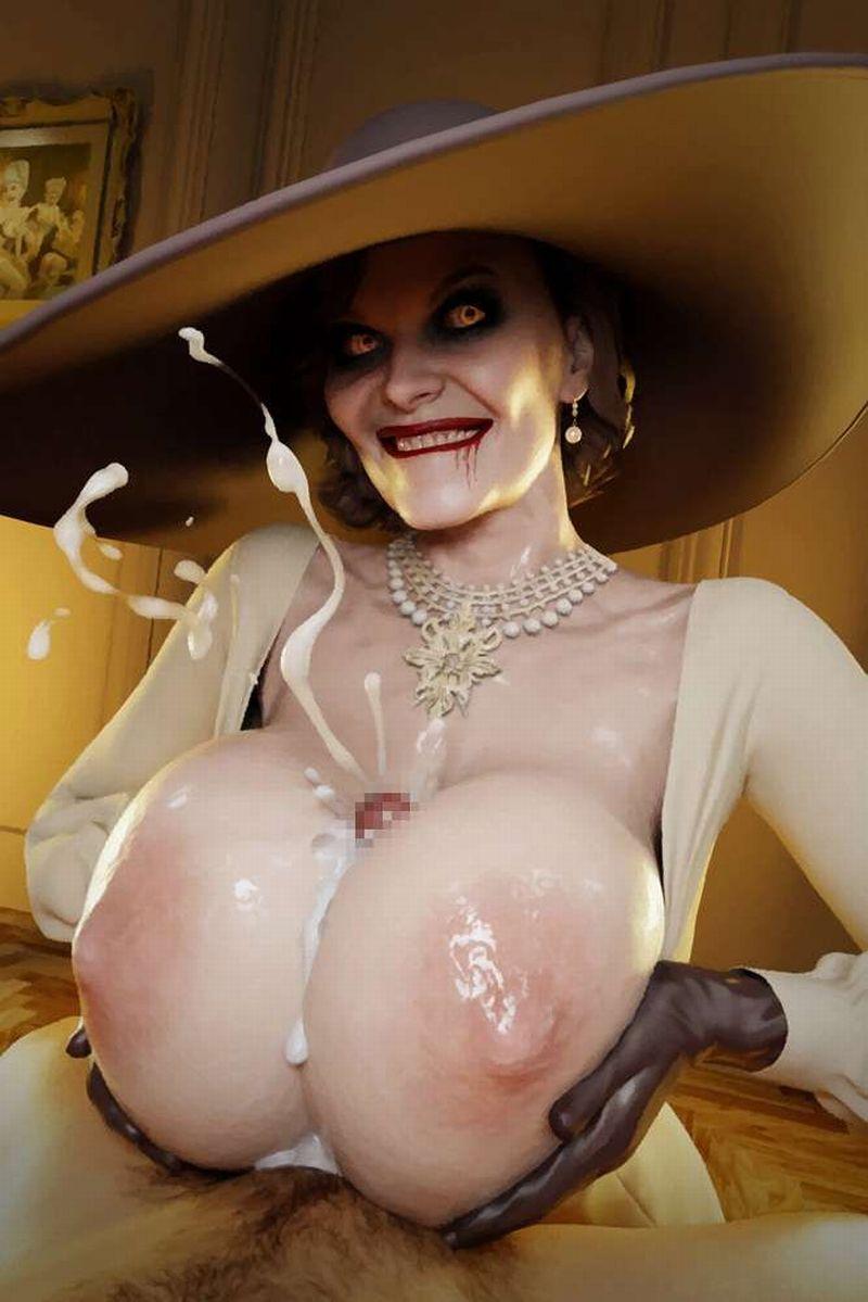 【バイオハザードヴィレッジ】オルチーナ・ドミトレスク(Alcina Dimitrescu)のエロ画像【50】