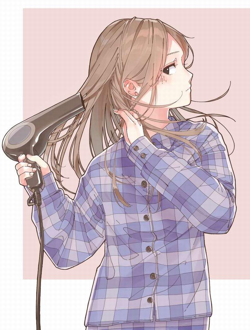 【TMRごっこ】ドライヤーで髪の毛乾かしてる風呂上り女子の二次エロ画像【37】
