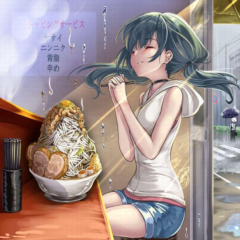 【ガッツリ】二郎系ラーメン食べてる女子の二次画像【27】