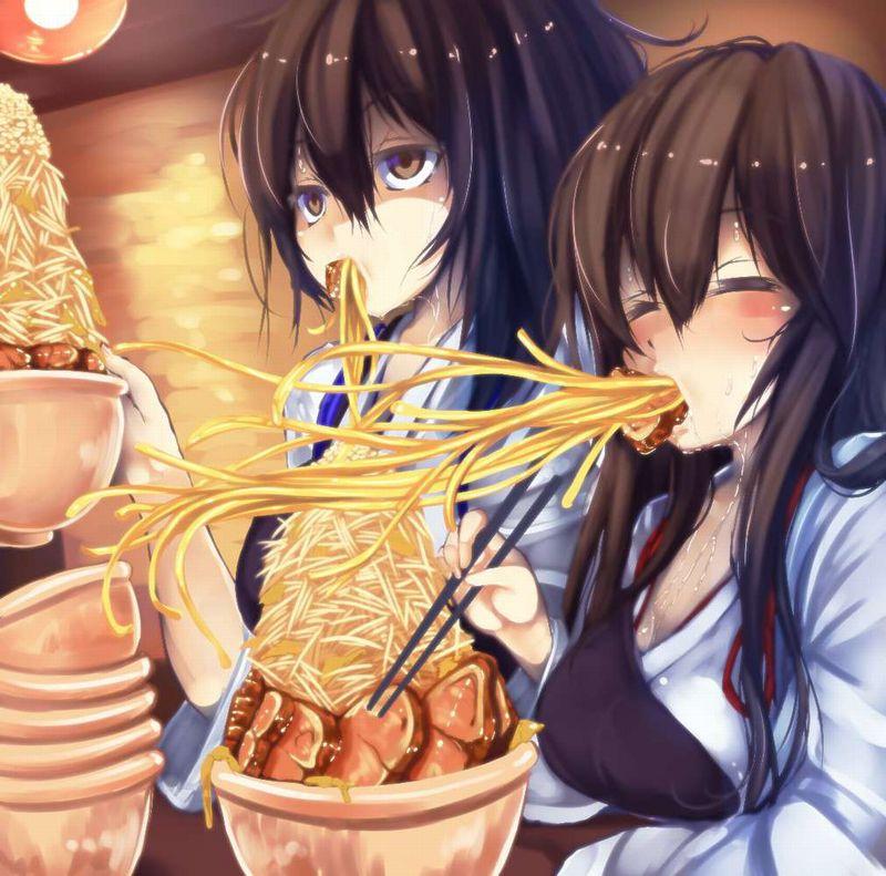 【ガッツリ】二郎系ラーメン食べてる女子の二次画像【32】