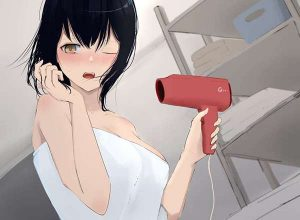 【TMRごっこ】ドライヤーで髪の毛乾かしてる風呂上り女子の二次エロ画像