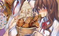 【ガッツリ】二郎系ラーメン食べてる女子の二次画像