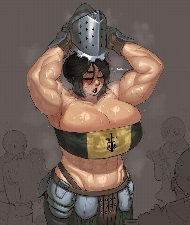 【絶対臭い】筋肉女子の腋の下を愛でる二次エロ画像【8】