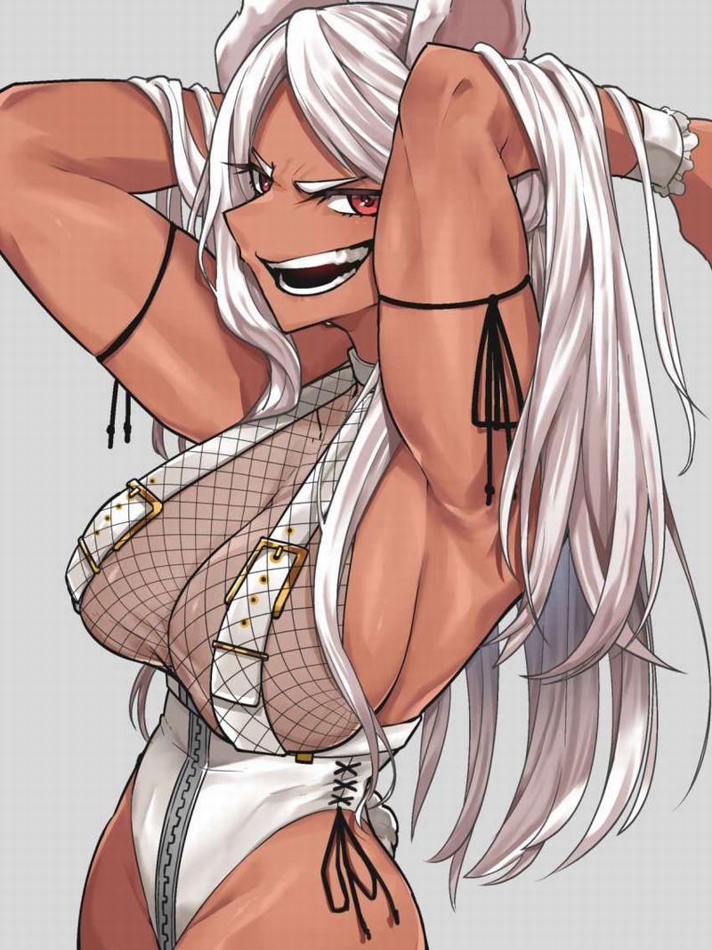 【絶対臭い】筋肉女子の腋の下を愛でる二次エロ画像【9】