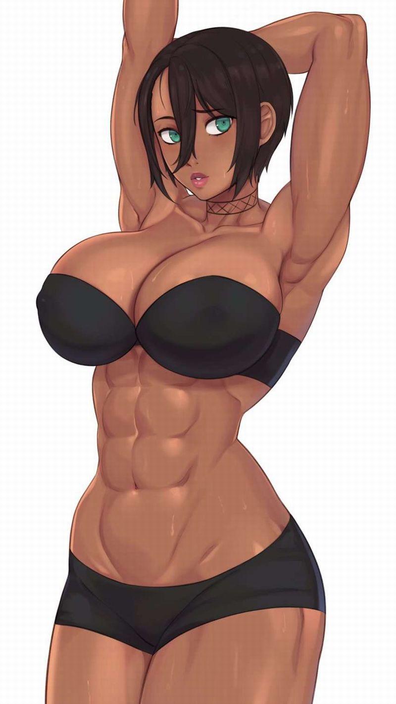【絶対臭い】筋肉女子の腋の下を愛でる二次エロ画像【14】