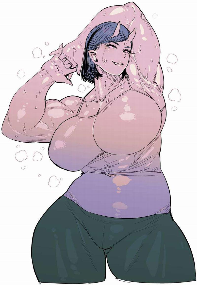 【絶対臭い】筋肉女子の腋の下を愛でる二次エロ画像【15】