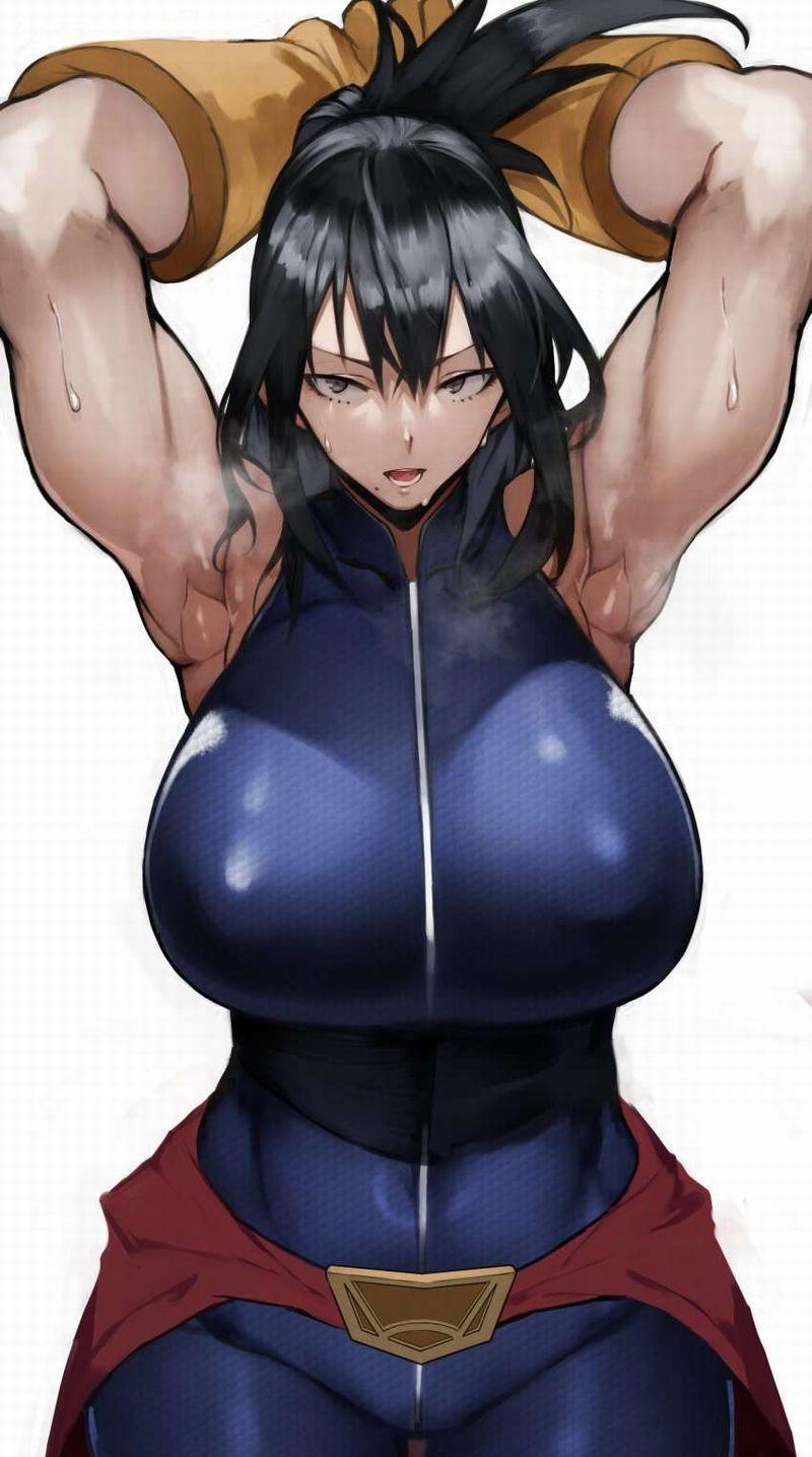 【絶対臭い】筋肉女子の腋の下を愛でる二次エロ画像【30】