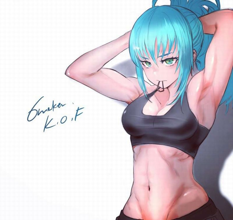 【絶対臭い】筋肉女子の腋の下を愛でる二次エロ画像【39】