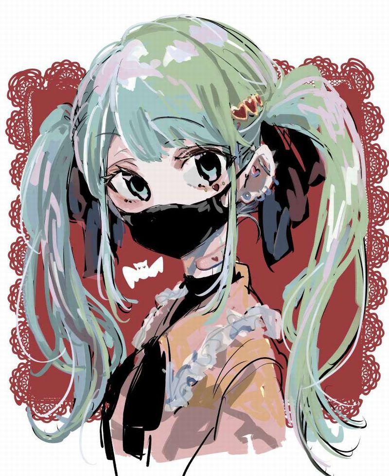 【夏は辛い】黒マスクを着けた女子のエロ画像【29】