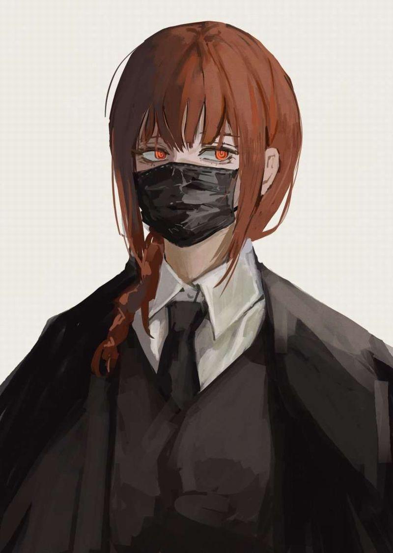 【夏は辛い】黒マスクを着けた女子のエロ画像【38】