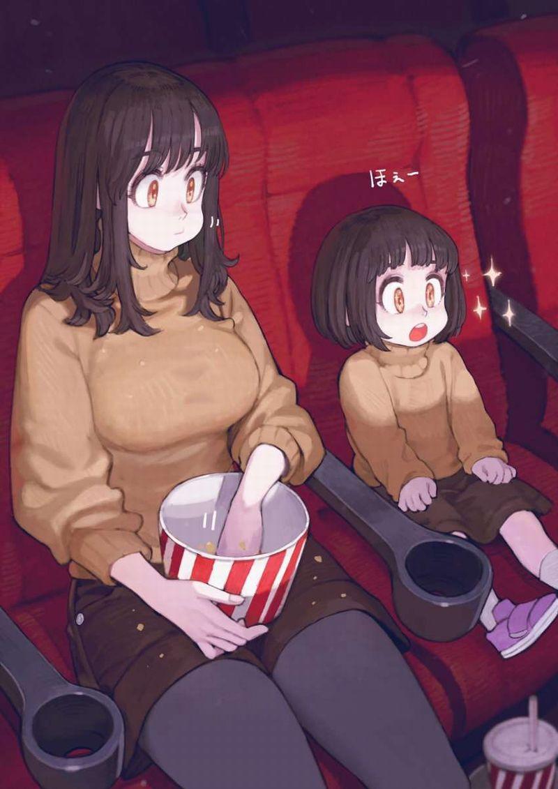 【ポップコーンとコーラもね】映画館と美少女の二次画像【20】