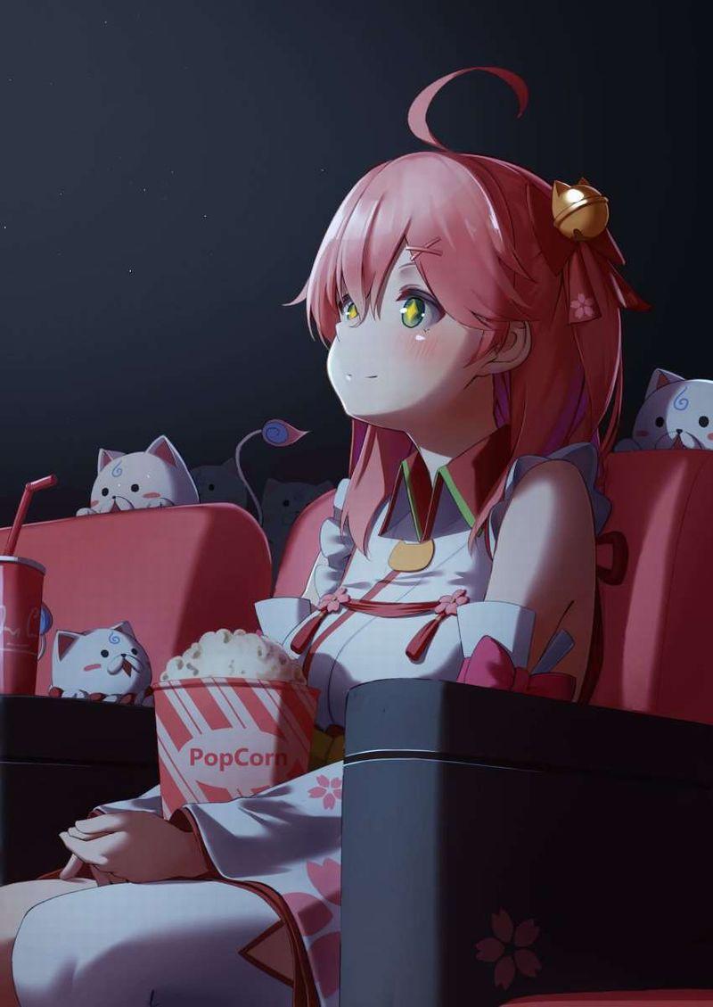 【ポップコーンとコーラもね】映画館と美少女の二次画像【26】