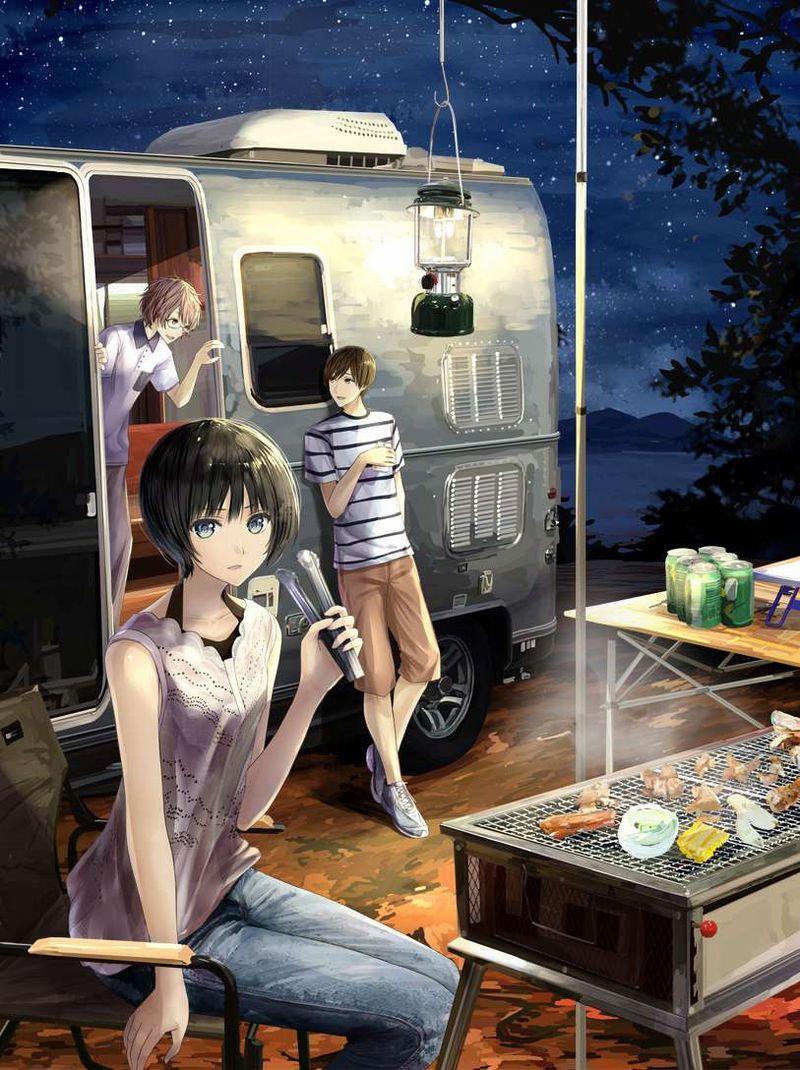 【焼肉焼いても】焼肉を堪能する女子の二次画像【家焼くな】【18】