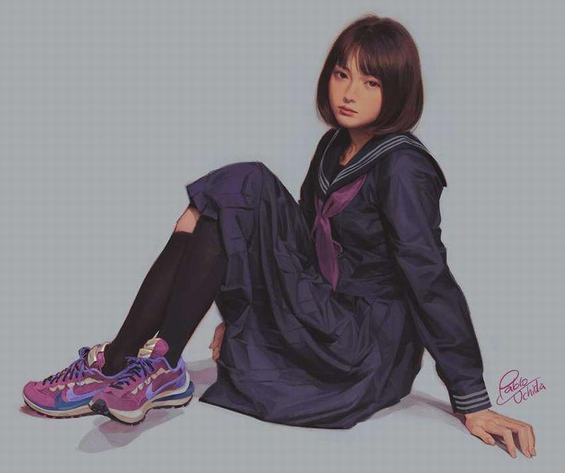 【メッセージ性が強い】NIKE(ナイキ)のスニーカー履いた女子の二次画像【33】