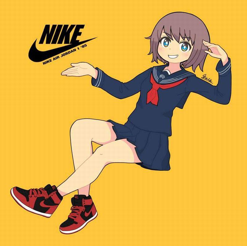 【メッセージ性が強い】NIKE(ナイキ)のスニーカー履いた女子の二次画像【37】