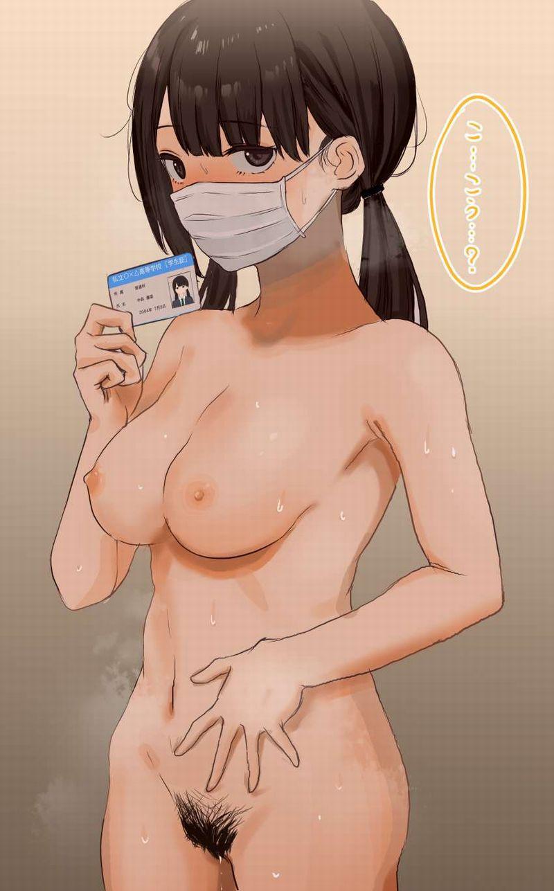 【裸ローンの思い出】身分証提示して脱いでる女子の二次エロ画像【15】