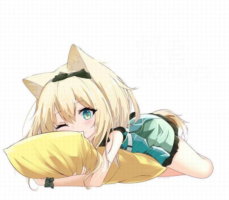 【擦り付けオナの可能性】抱き枕をギュってしてる女子の二次エロ画像【33】