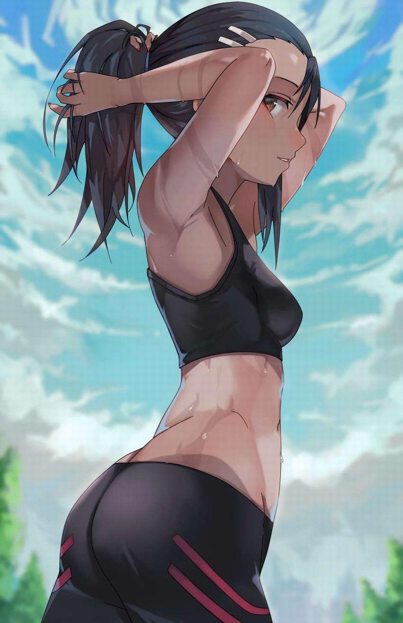 【夏到来】ノースリーブワキ汗女子の二次エロ画像【24】