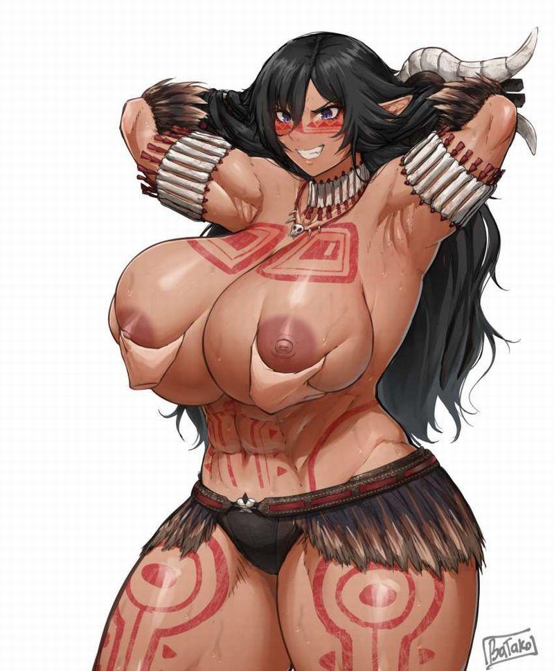 【ガチトライバル】民族の伝統でタトゥー入れてるぽい女子達の二次エロ画像【2】