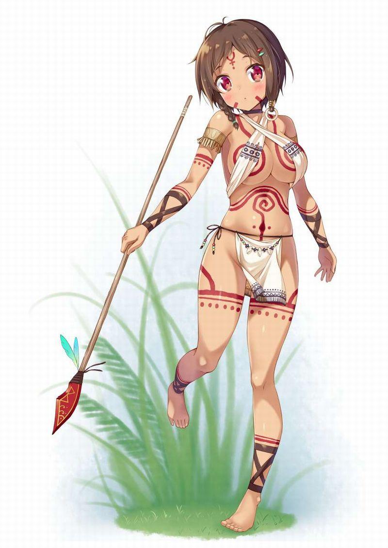 【ガチトライバル】民族の伝統でタトゥー入れてるぽい女子達の二次エロ画像【15】