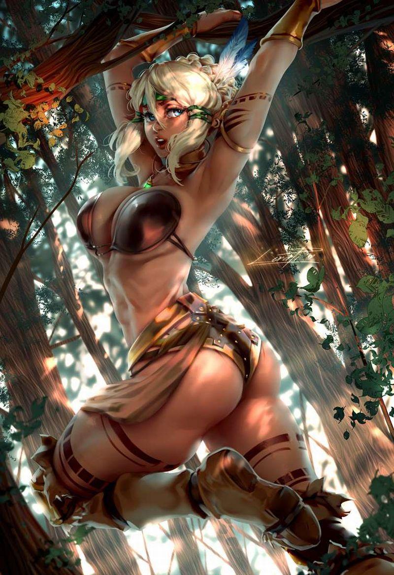 【ガチトライバル】民族の伝統でタトゥー入れてるぽい女子達の二次エロ画像【23】