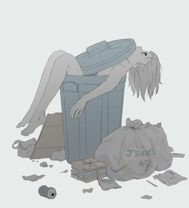 【リサイクル可能】レイプされてゴミとして捨てられる悲惨な女子達の二次エロ画像【7】