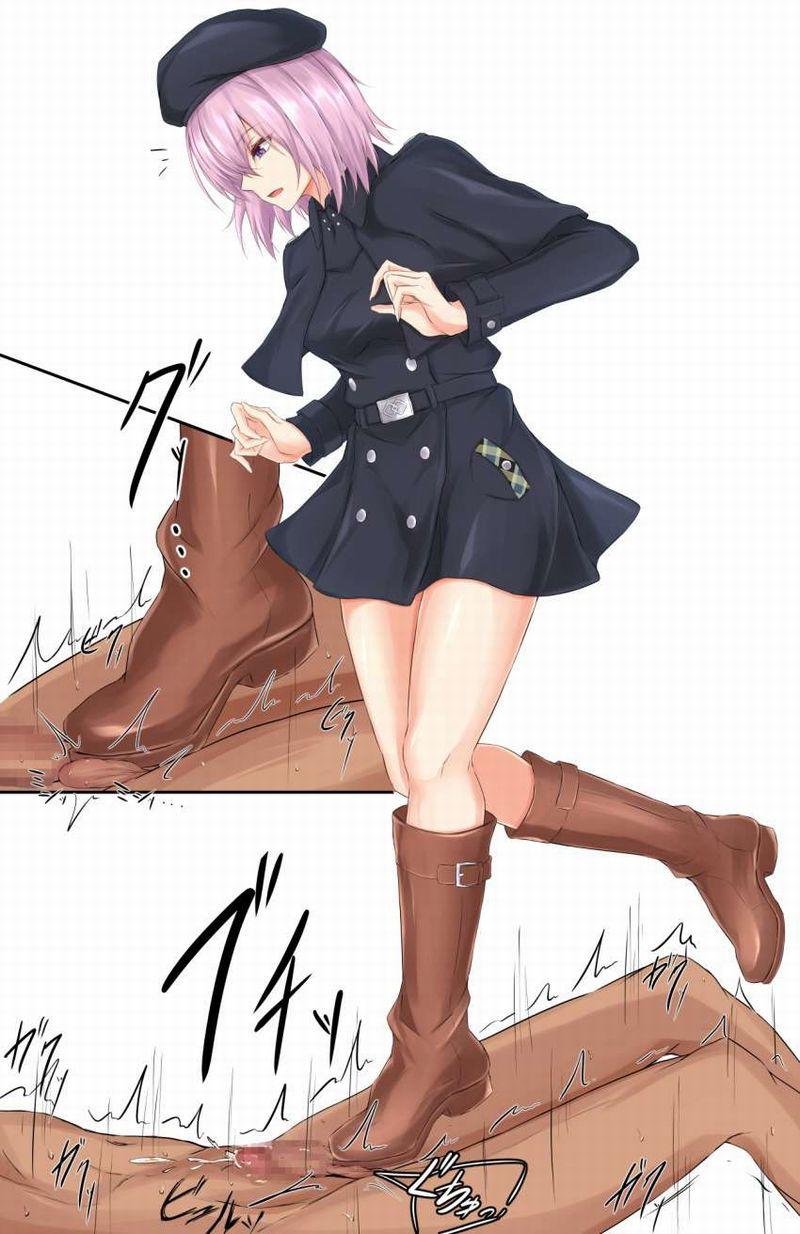 【生チン限定】容赦無い金蹴りを加えるドS女子達の二次エロ画像【38】