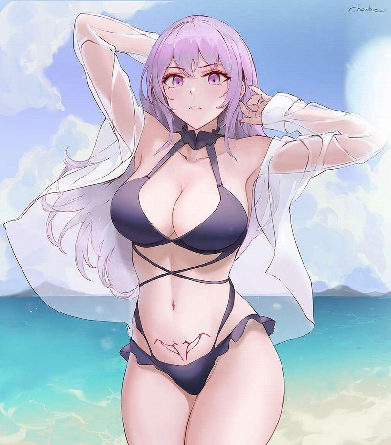 【ナンパ待ちかな?】ビーチに佇むビキニ水着女子の二次エロ画像【4】