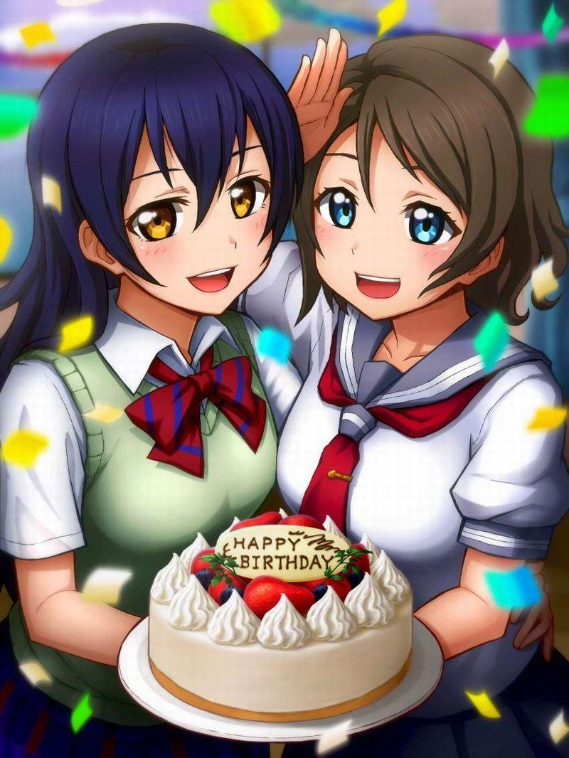 【HAPPY BIRTHDAY】ケーキと共にお誕生日を祝って貰ってる女子達の二次画像【4】