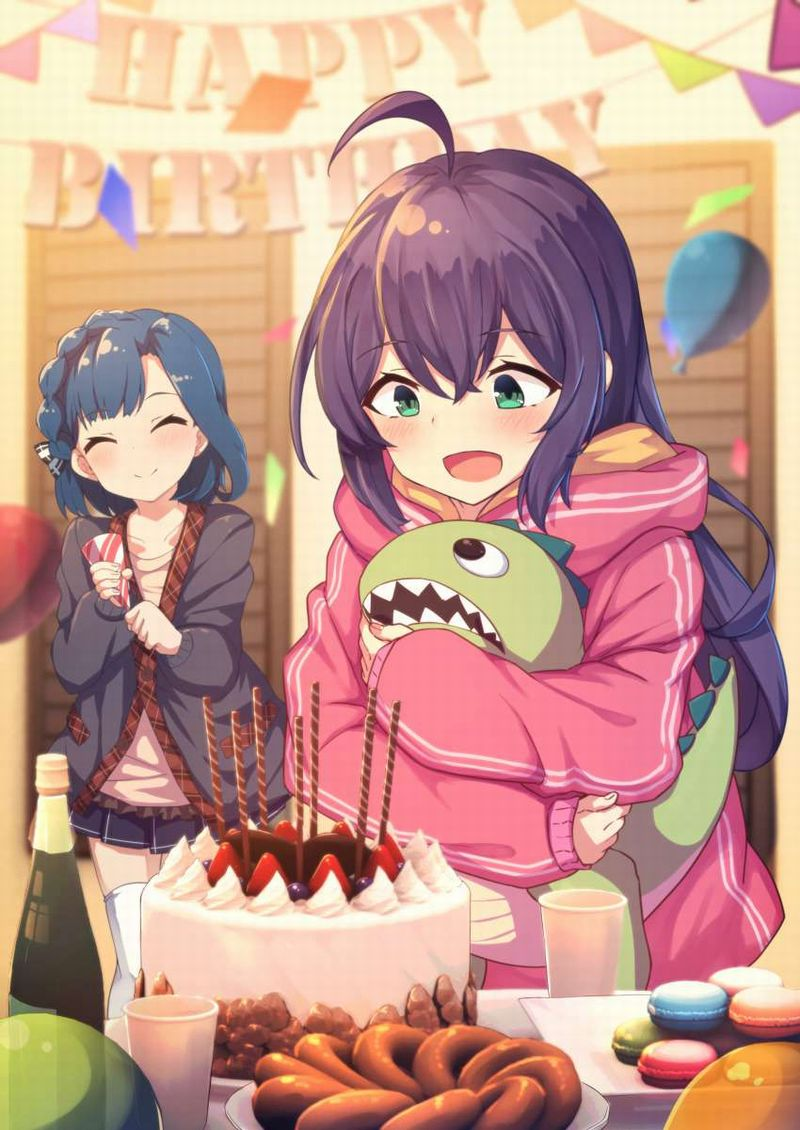 【HAPPY BIRTHDAY】ケーキと共にお誕生日を祝って貰ってる女子達の二次画像【8】