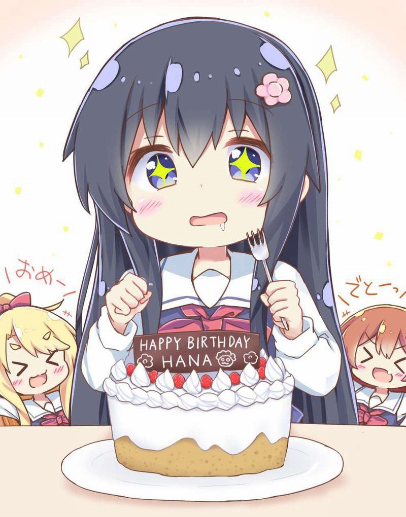 【HAPPY BIRTHDAY】ケーキと共にお誕生日を祝って貰ってる女子達の二次画像【11】