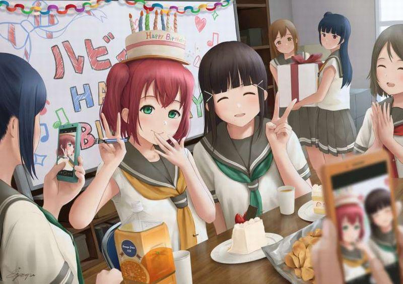 【HAPPY BIRTHDAY】ケーキと共にお誕生日を祝って貰ってる女子達の二次画像【12】