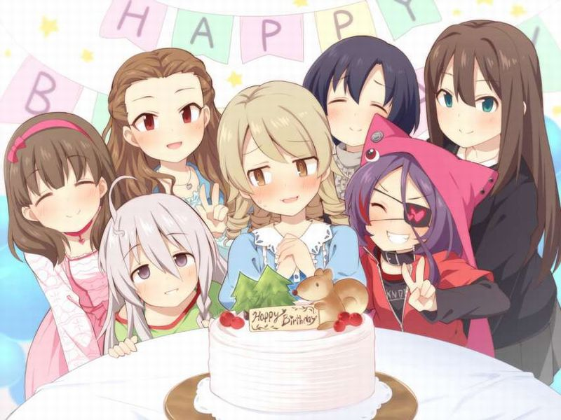 【HAPPY BIRTHDAY】ケーキと共にお誕生日を祝って貰ってる女子達の二次画像【19】