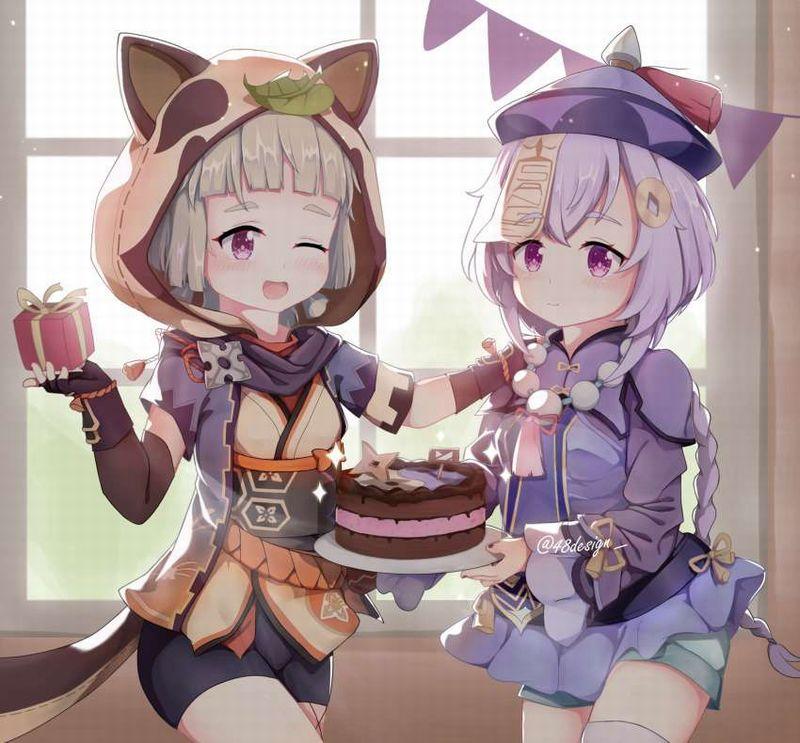 【HAPPY BIRTHDAY】ケーキと共にお誕生日を祝って貰ってる女子達の二次画像【38】