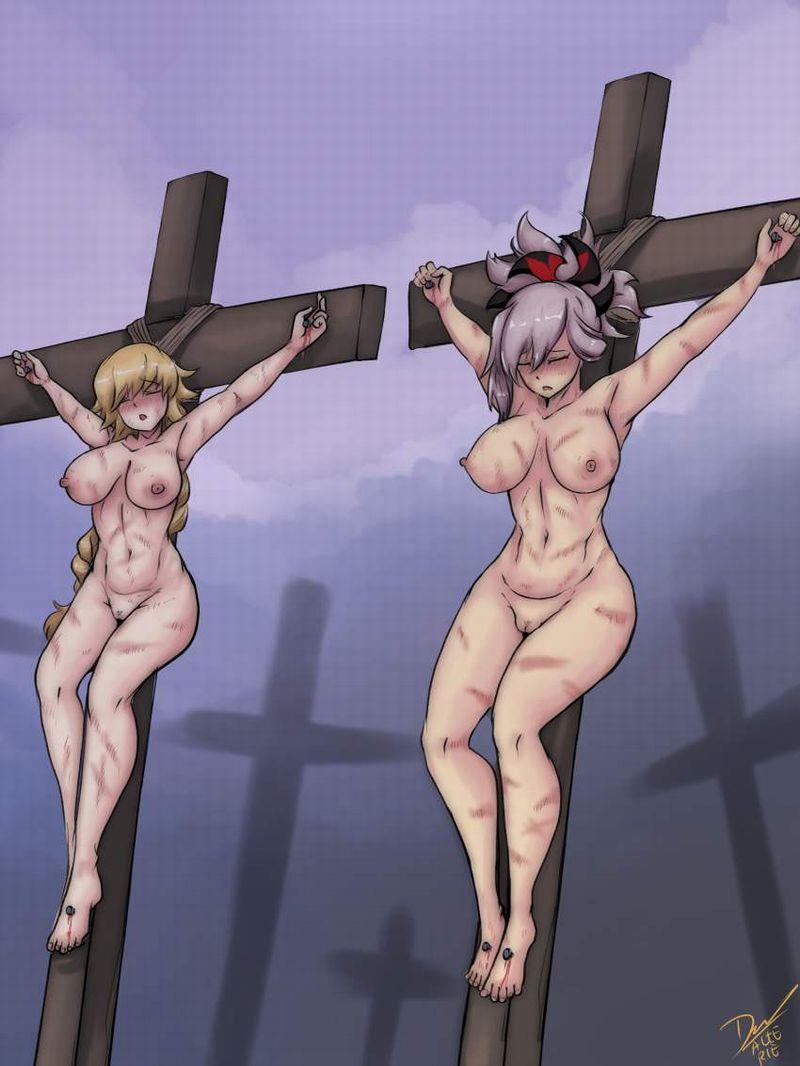 【アダム】十字架に貼り付けにされる女子の二次エロ画像【リリス】【20】