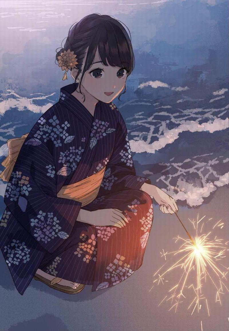 【夏の風物詩】手持ち花火を楽しむ女子達の二次画像【24】