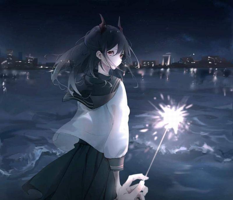 【夏の風物詩】手持ち花火を楽しむ女子達の二次画像【33】