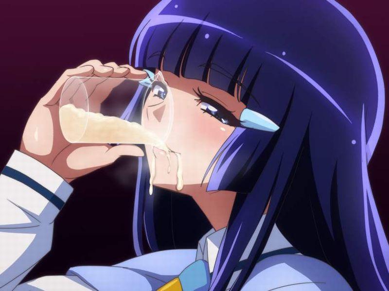 【恐怖の白ジャム事件】カップやジョッキにザーメン溜めて飲む女子の二次エロ画像【39】