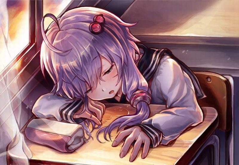 【仮眠】デスクに突っ伏してうたた寝してる女子たちの二次画像【15】
